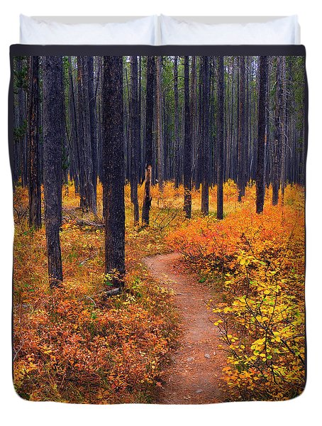Autumn In Yellowstone Duvet Cover