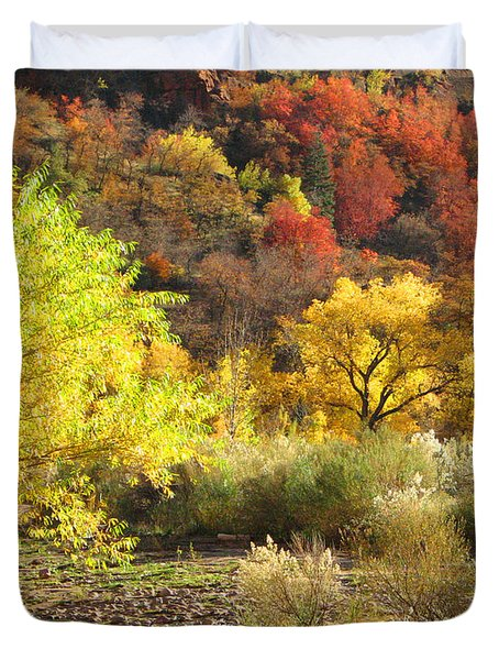 Autumn In Zion Duvet Cover