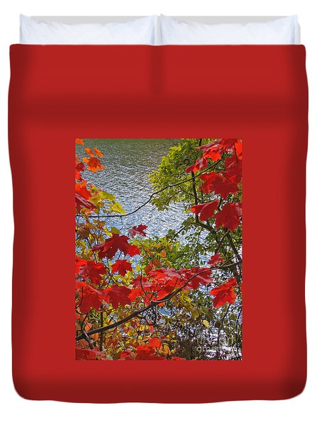 Autumn Lake Duvet Cover
