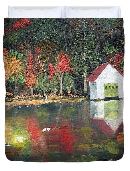 Autumn - Lake - Reflecton Duvet Cover