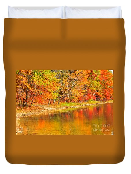 Duvet Cover featuring the photograph Fire Balls by Terri Gostola