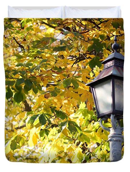 Autumn Lamp Post Duvet Cover
