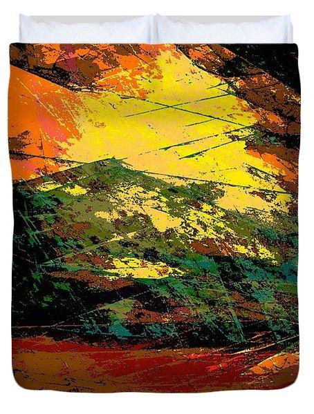 Autumn Landscape Duvet Cover by Klara Acel