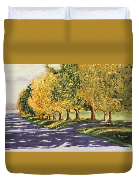 Autumn Lane Duvet Cover