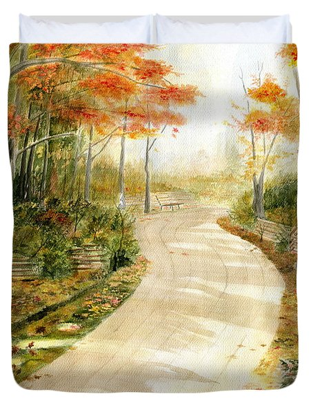 Autumn Lane Duvet Cover by Melly Terpening