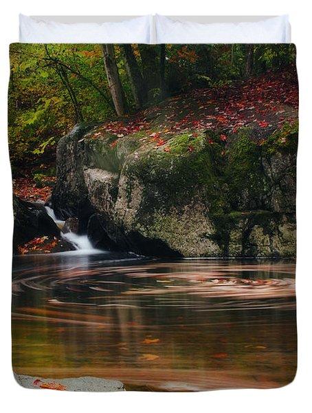 Autumn Leaf Trails Duvet Cover