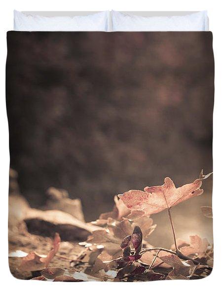Autumn Leaves Duvet Cover by Amanda Elwell