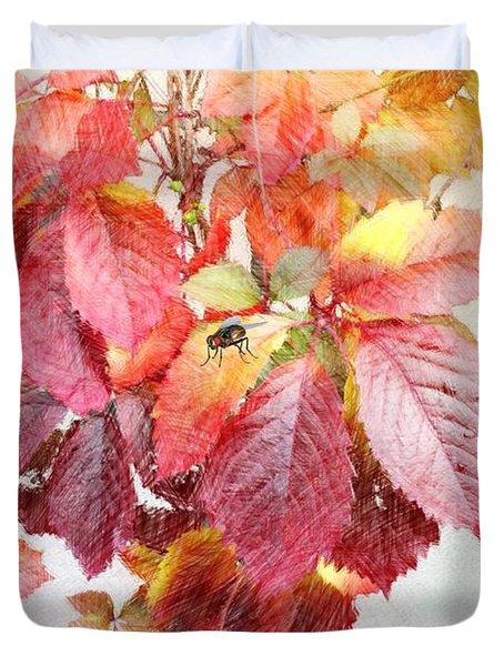 Autumn Leaves Duvet Cover by Liane Wright