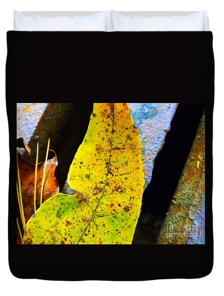 Autumn Leaves Duvet Cover by Robyn King