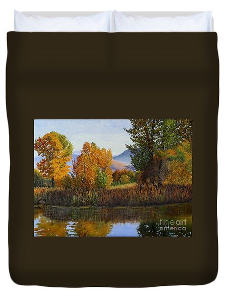 Autumn Light Duvet Cover by Beverly Theriault