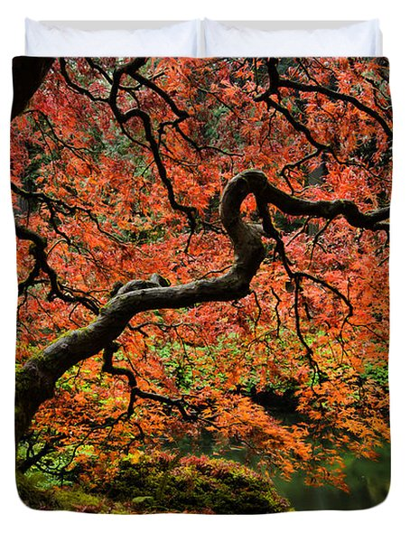 Autumn Magnificence Duvet Cover by Don Schwartz