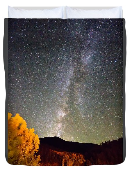 Autumn Milky Way Night Sky  Duvet Cover by James BO  Insogna
