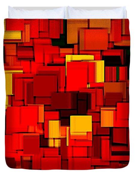 Autumn Modern Abstract Xv Duvet Cover by Lourry Legarde