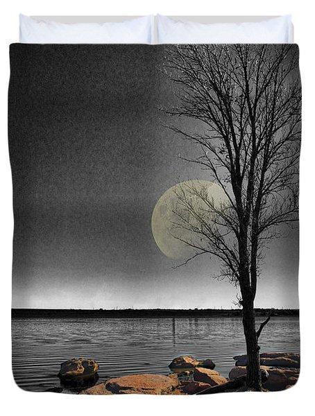 Autumn Moon Duvet Cover by Betty LaRue