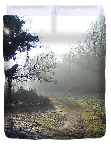 Autumn Morning 2 Duvet Cover by David Stribbling