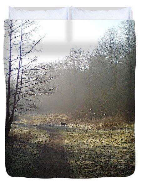 Autumn Morning 4 Duvet Cover by David Stribbling