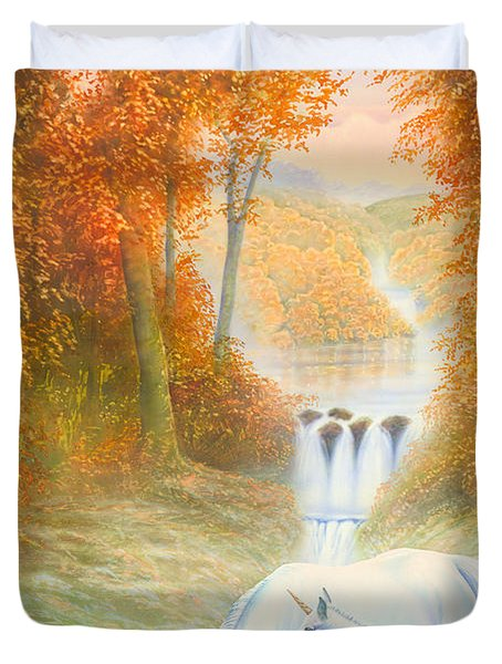 Autumn Morning Duvet Cover by Andrew Farley