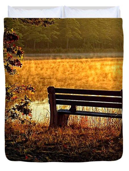 Autumn Morning At The Lake Duvet Cover