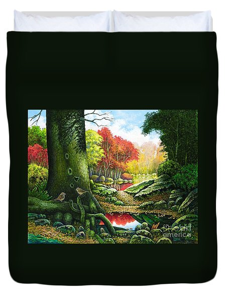 Autumn Morning In The Forest Duvet Cover