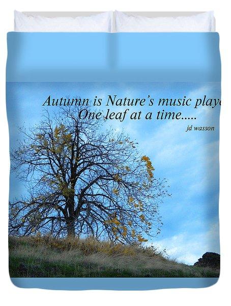 Autumn Music Duvet Cover