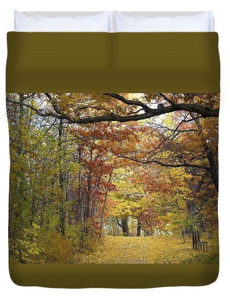 Autumn Nature Trail Duvet Cover