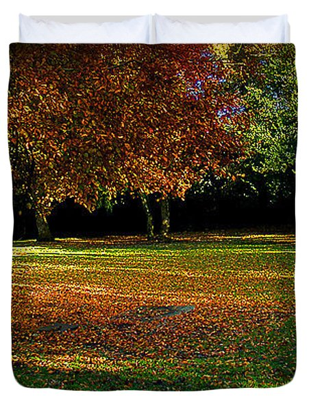 Duvet Cover featuring the photograph Autumn by Nina Ficur Feenan