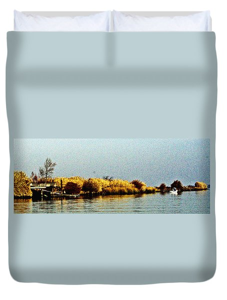 Autumn On The Delta Duvet Cover