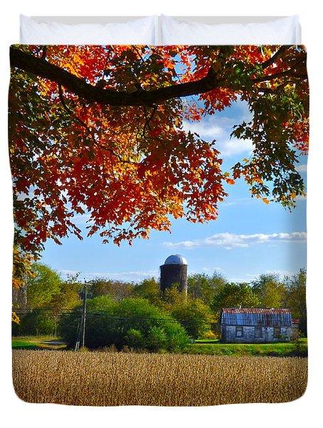 Autumn On The Farm Duvet Cover