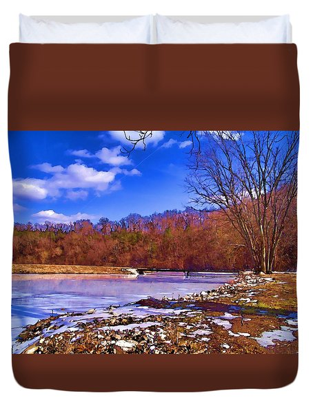 Autumn On The Niangua Duvet Cover by Julie Grace