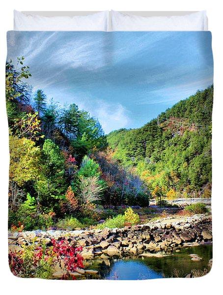 Autumn On The Ocoee Duvet Cover