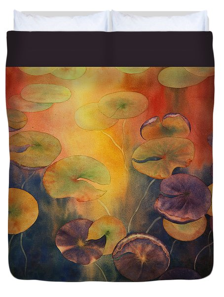 Autumn On Winslow Lake Duvet Cover