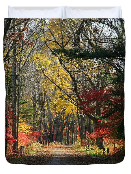 Autumn Paths    No.2 Duvet Cover by Neal Eslinger