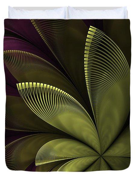 Duvet Cover featuring the digital art Autumn Plant II by Gabiw Art