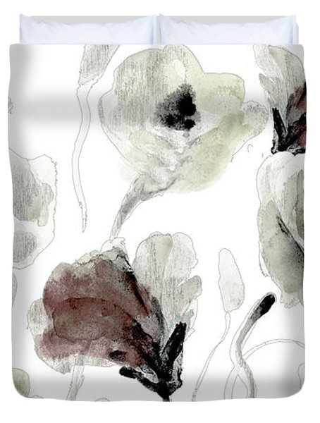 Autumn Poppies Duvet Cover
