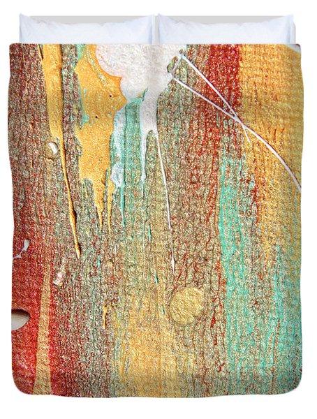 Autumn Rain Abstract Painting Duvet Cover