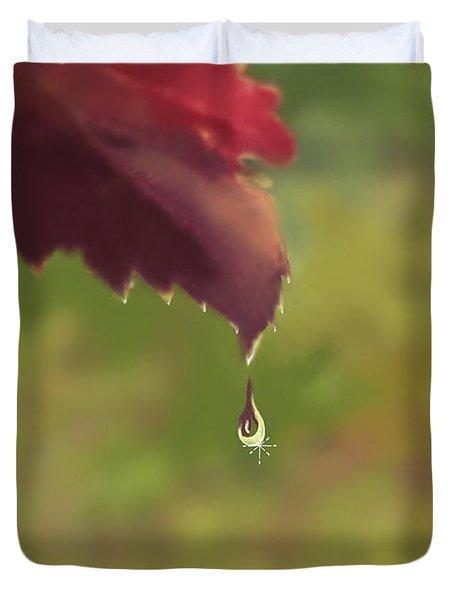 Autumn Rain Duvet Cover by Kume Bryant