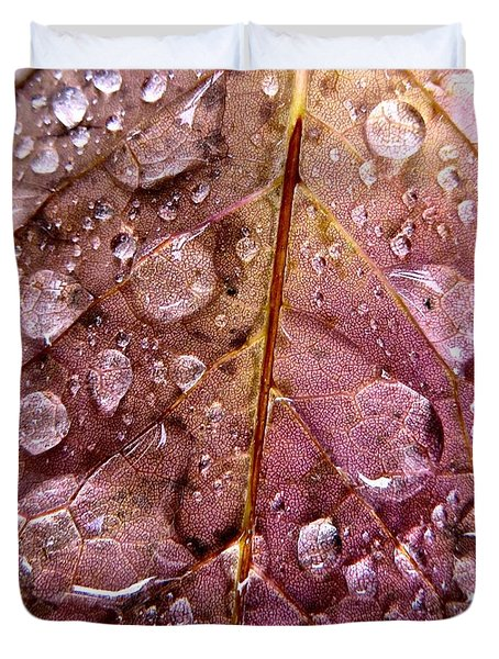 Autumn Rain Duvet Cover