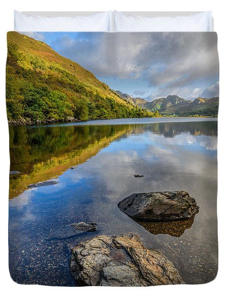 Autumn Reflection Duvet Cover by Adrian Evans