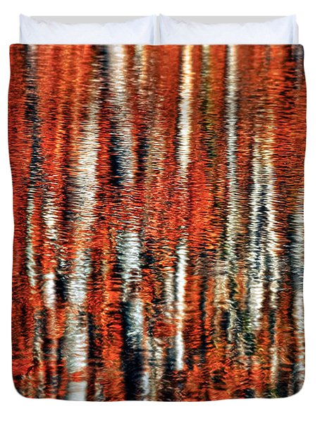 Autumn Reflection Duvet Cover by Marcia Colelli