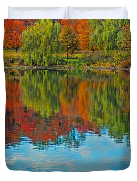 Autumn Reflection Duvet Cover by Todd Breitling
