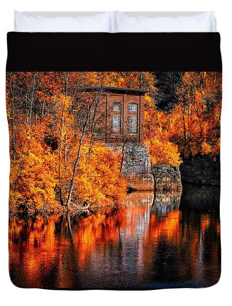Autumn Reflections  Duvet Cover by Bob Orsillo