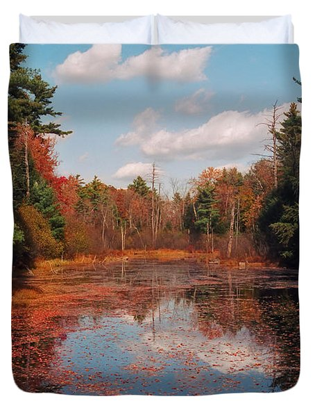 Autumn Reflections Duvet Cover by Joann Vitali