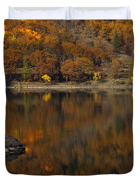 Autumn Reflections Duvet Cover by Mike  Dawson