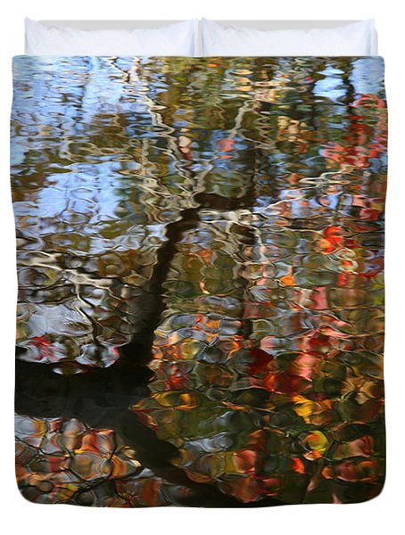 Autumn Reflections  Duvet Cover by Neal Eslinger