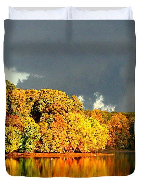 Autumn Reflections Duvet Cover