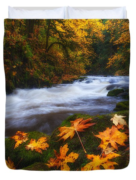 Autumn Returns Duvet Cover by Darren  White