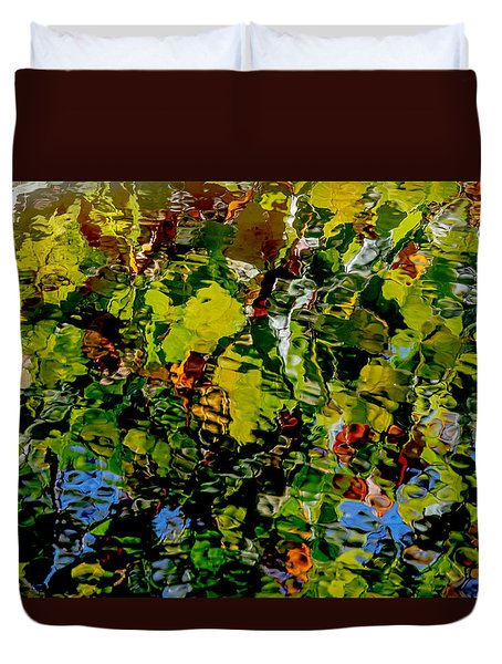Autumn Ripples Abstract Duvet Cover