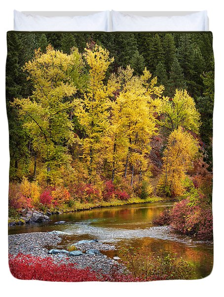 Autumn River Duvet Cover