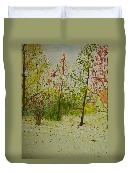 Autumn Scenery Duvet Cover
