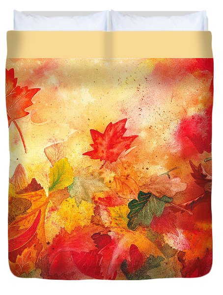 Autumn Serenade  Duvet Cover by Irina Sztukowski